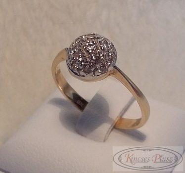 Arany köves gyűrű kerek 58-as méret