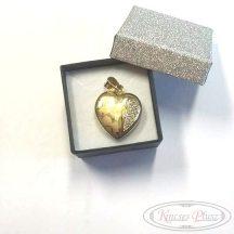Felújított, használt arany szív medál