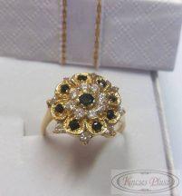 Felújított arany gyűrű virág 56-os méret