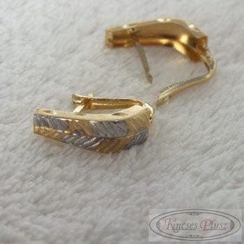 Arany fülbevaló kétszínű