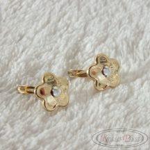 Arany fülbevaló virág formájú