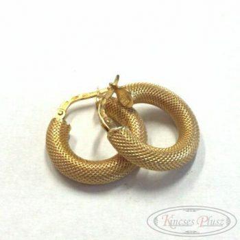 Arany fülbevaló karika 1,8cm átmérővel