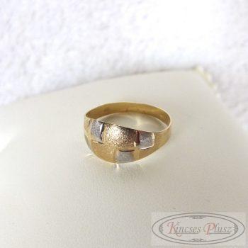 Arany gyűrű két színű 57-es méret