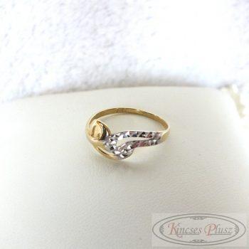 Arany gyűrű kétszínű 53-as méret