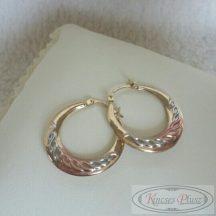 Arany karika fülbevaló három színű 21mm átmérővel