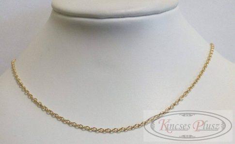 Gömb anker arany nyaklánc 45 cm hosszúságban