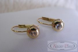 arany fülbevaló button foglalat