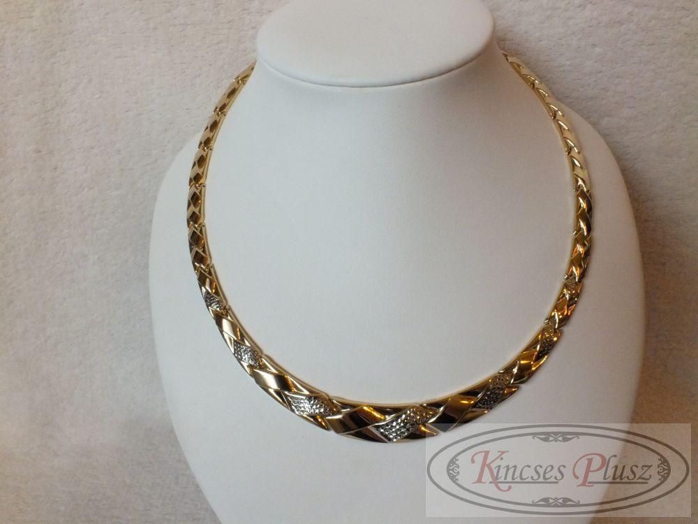 arany nyakék 45 cm hosszú szélesedik középen