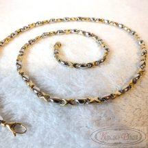"""Arany nyaklánc """"Barakka"""" fazon kétszínű 55 cm hosszú"""