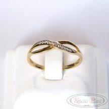 Arany gyűrű köves 57-es méret