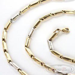 Arany nyaklánc kétszínű 60 cm-es