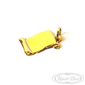 arany lap medál pergamen alakú