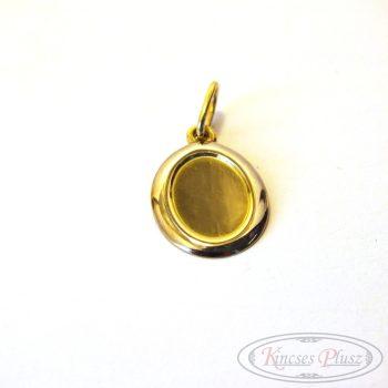 Arany lapmedál ovális