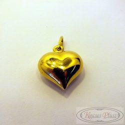 Felújított arany szív medál