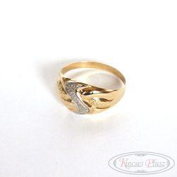Arany gyűrű fehérarannyal