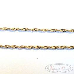 Arany nyaklánc csavart, hamis Walles 50 cm-es