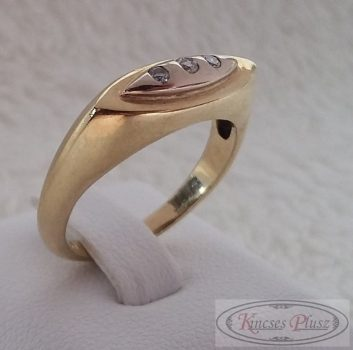 arany gyűrű köves hosszúkás 52-es méret