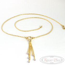 Arany nyaklánc csüngős 45 cm+6ésfél cm hosszban
