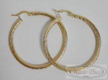 Arany fülbevaló karika 4cm átmérővel