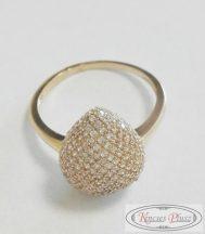 Arany sokköves gyűrű 56-os