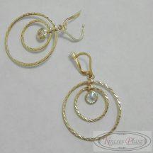 Arany francia kapcsos karika fülbevaló