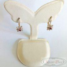 Felújított arany kislány fülbevaló virág alakú