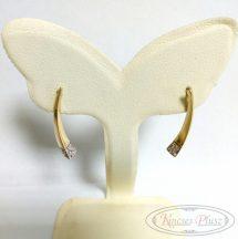 Arany fülbevaló elegáns íves fazon