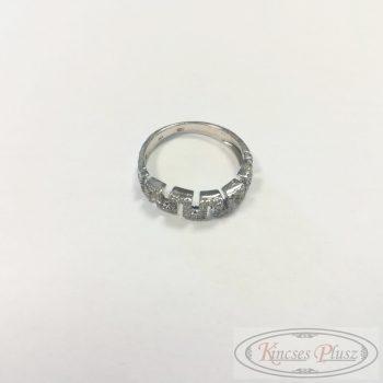 Arany gyűrű sokköves fehér 50-es