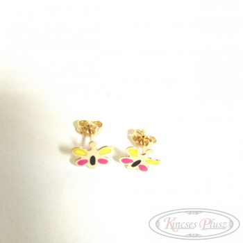 Arany fülbevaló pillangó szines