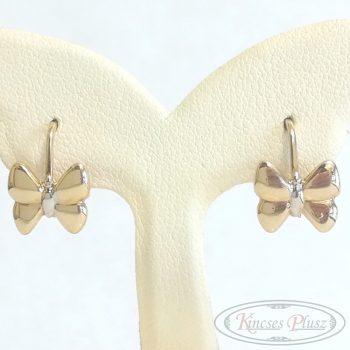 Arany fülbevaló pillangó patent záras