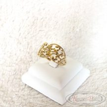 Arany gyűrű leveles áttört 58-as