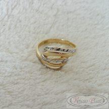 Arany gyűrű kétszínű
