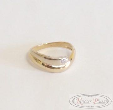 Arany gyűrű sárga-fehér 57'