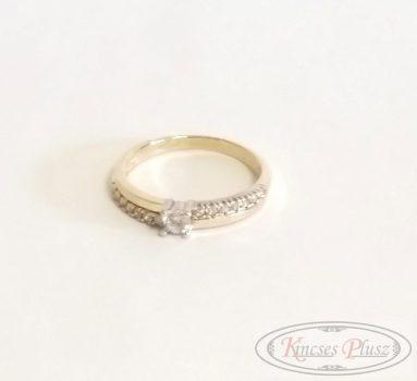 Arany gyűrű sokköves 50'
