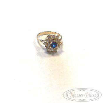 Felújított arany gyűrű sokköves 54'