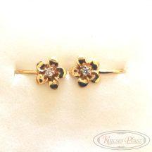 Arany fülbevaló virág bébi