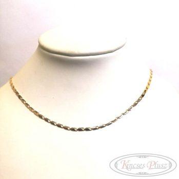 Arany lánc préselt 44cm