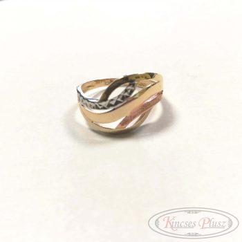 Arany gyűrű 3színű 56'