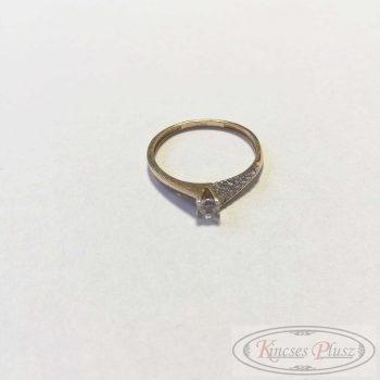 Arany gyűrű sokköves 55,5'