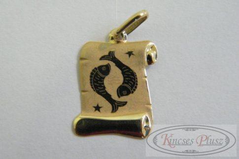 Arany halak horoszkóp medál