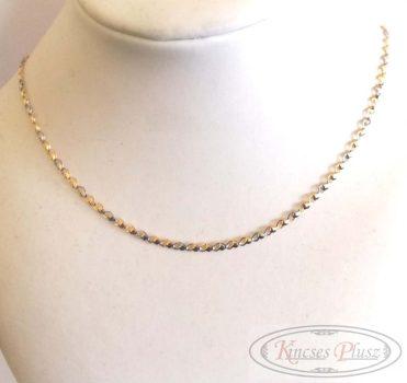 Arany lánc szív fazon 45cm