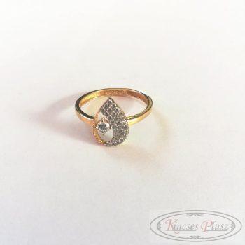 Arany gyűrű 55' csepp forma