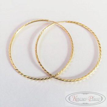 Arany fülbevaló karika 5,8cm átmérőjű