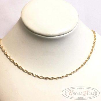 Arany lánc csavart női 45cm