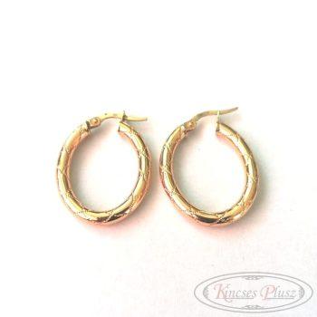 Arany fülbevaló ovál