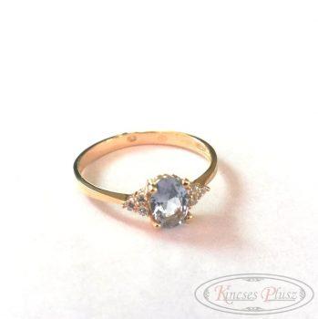 Arany gyűrű 62' kék köves