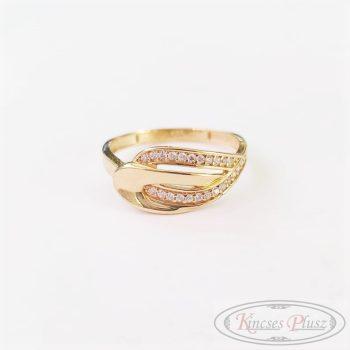 Arany gyűrű sokköves 56,5'