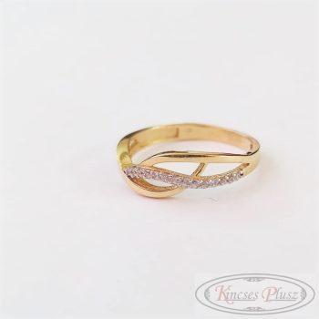 Arany gyűrű sokköves 52'