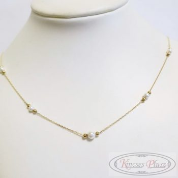 Arany lánc gyöngyös 50cm