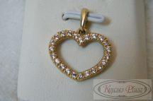 arany köves szív medál